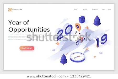 Zdjęcia stock: Izometryczny · wektora · rok · działalności · pracy