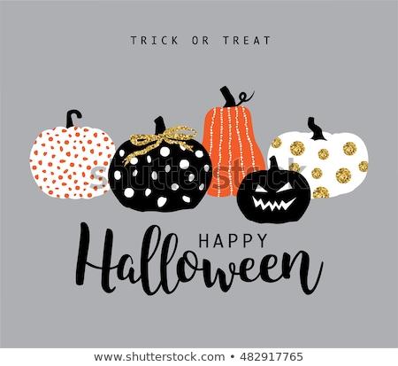 Gelukkig halloween scary gezicht patroon typografie Stockfoto © articular