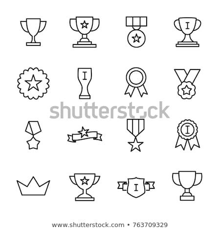 competição · sucesso · ícones · vermelho · branco - foto stock © robuart