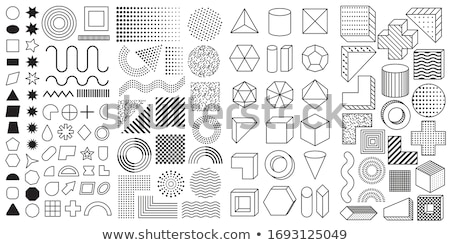 vector abstract memphis pattern with mosaic geometric shapes   seamless stock photo © expressvectors