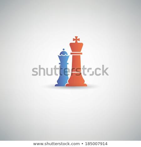 Cartoon rey del ajedrez signo ilustración rey Foto stock © cthoman