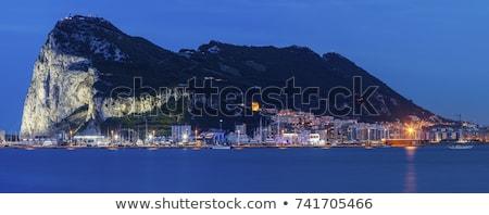 Panoráma Gibraltár LA épület naplemente kék Stock fotó © benkrut