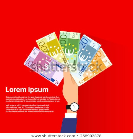 businessman with a pile of euro banknotes Stock photo © nito