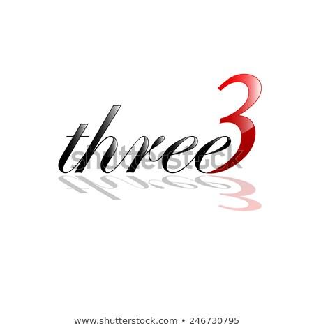 stylized logo number 3 three third icon stock photo © blaskorizov