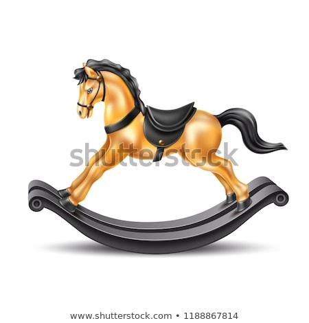 игрушечный конь-качалка иллюстрация игрушку лошади Рождества настоящее Сток-фото © IvanDubovik