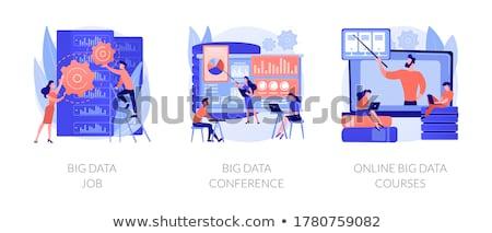 Big data conference concept vector illustration. Stock photo © RAStudio