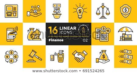 Cálculo troca dinheiro conjunto negócio bancário Foto stock © robuart
