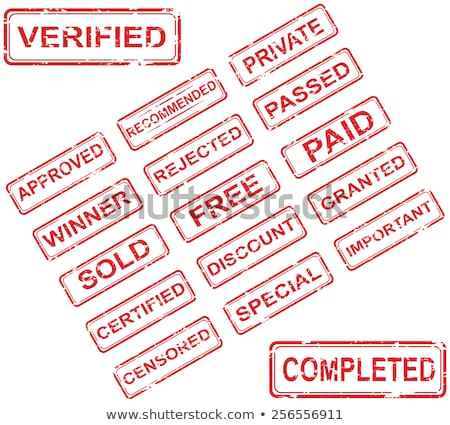 Foto stock: Set Of Stamps Is Paid Vector Illustration