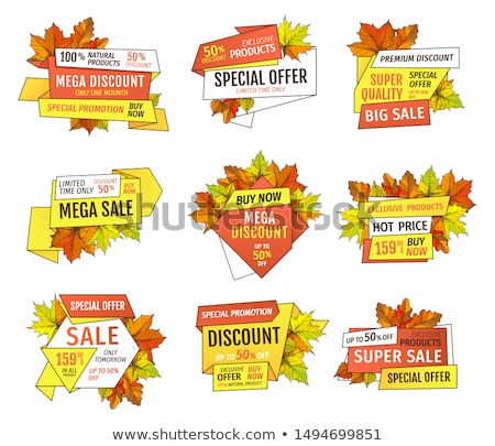 Thanksgiving Week Offer Labels Set Exclusive Price Stock photo © robuart