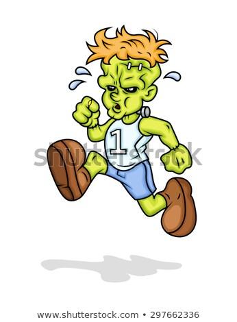 cartoon devil running race stock photo © cthoman