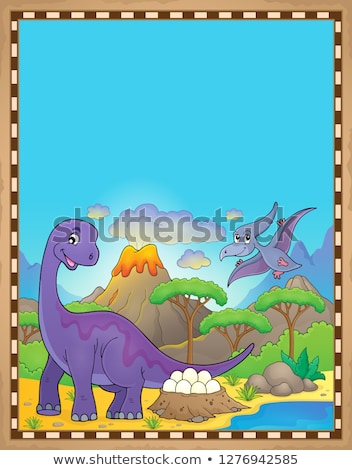 Dinosaur theme parchment 2 Stock photo © clairev