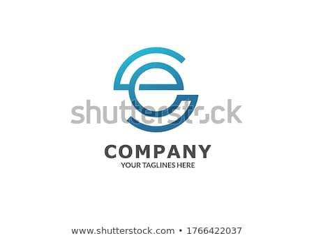letter e line logo icon design symbol sign stock photo © blaskorizov