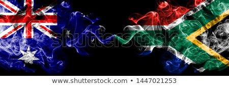 Two waving flags of United States and south africa Stock photo © MikhailMishchenko