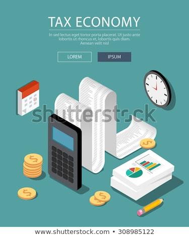 imposto · pagamento · isométrica · vetor · relatório · pessoas - foto stock © rastudio