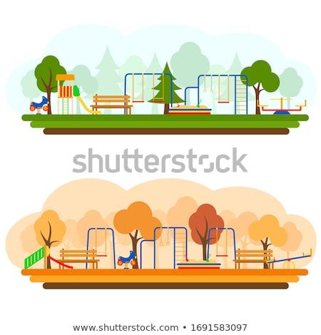 Stock photo: Playground equipment in park
