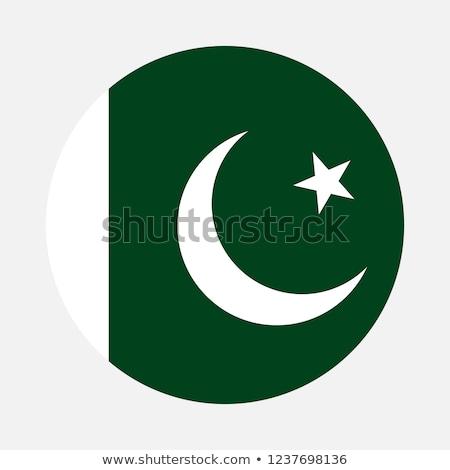 Pakisztán zászló kitűző illusztráció terv háttér Stock fotó © colematt