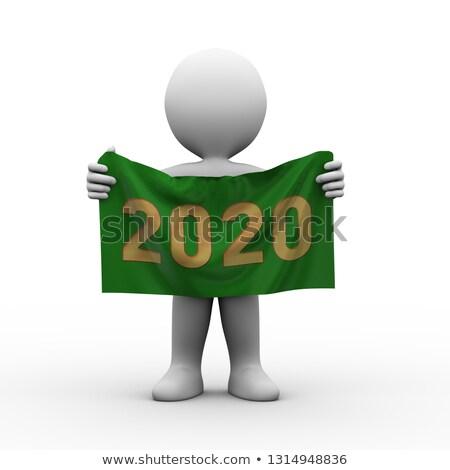 3d man cloth banner year 2020 Stock photo © ribah