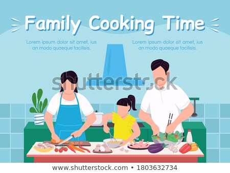 Happy Family Spend Time Together Posters with Text Stock photo © robuart