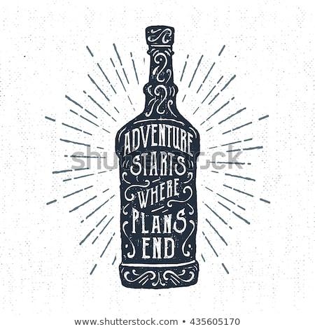 Rum logo bottiglia illustrazione citare Foto d'archivio © JeksonGraphics
