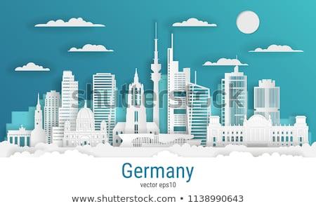 travel to germany   colorful flat design style illustration stock photo © decorwithme