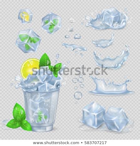 niebieski · kostkę · lodu · streszczenie · pić - zdjęcia stock © pikepicture