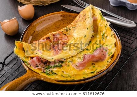 Presunto ovo delicioso simples fresco brinde Foto stock © grafvision