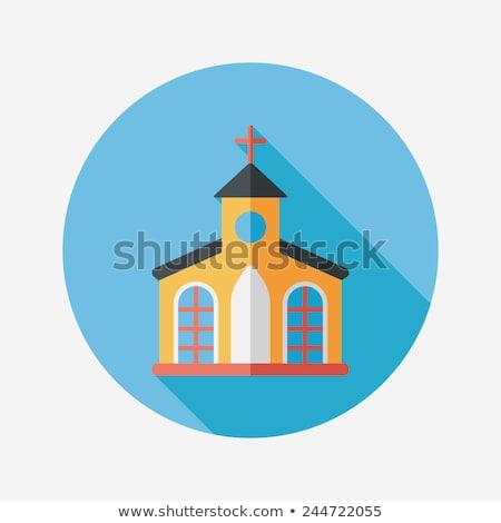 Christianity flat icon Stok fotoğraf © netkov1