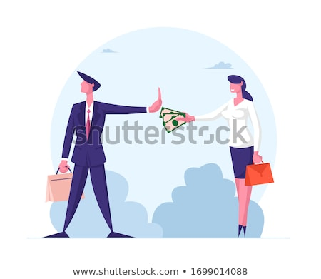 Stock photo: Anti Bribery And Corruption Concepts Businessman Refusing Or Re