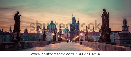 prague at dawn stock photo © givaga