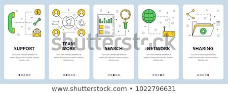 Stockfoto: Business · veiligheid · ingesteld · lijn · ontwerp · stijl