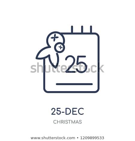 alegre · vetor · natal · decorado - foto stock © frimufilms