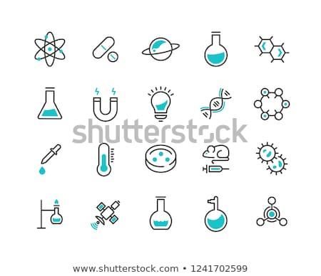 Chimiques biologique laboratoire verre liquide Photo stock © biv