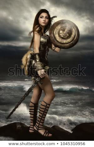 女性 戦士 実例 正義 電源 剣 ストックフォト © colematt