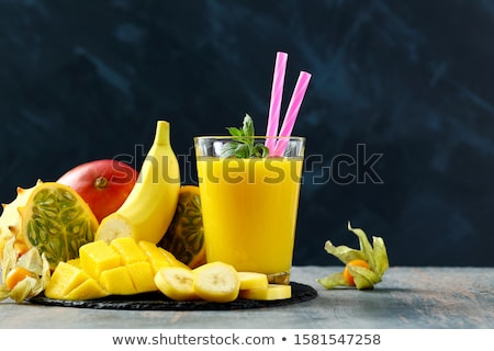 Friss mangó dzsúz sötét egészséges ital Stock fotó © furmanphoto