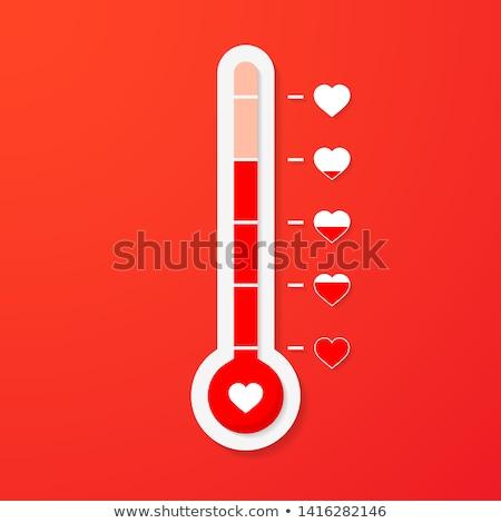 Liefde thermometer valentijnsdag kaart element eenvoudige Stockfoto © olehsvetiukha