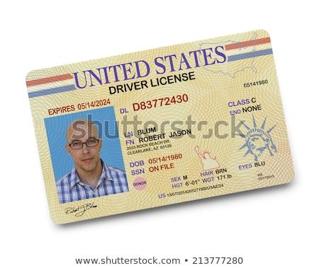 Identificação cartão foto homem isolado branco Foto stock © adamson