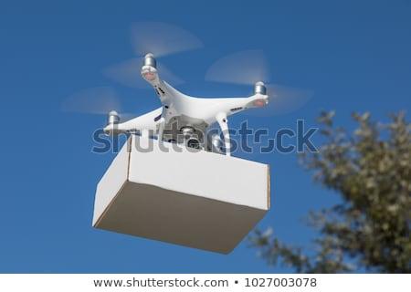 Stock fotó: Repülőgép · hordoz · csomag · vállalati · épület · égbolt