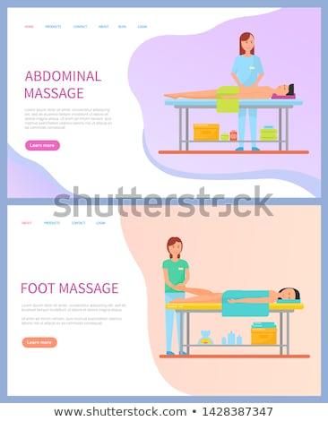 массажистка брюшной ногу массаж вектора Сток-фото © robuart