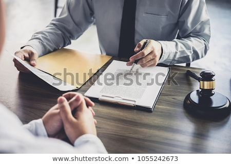 Having meeting with team at law firm, Consultation between a fem Stock photo © Freedomz