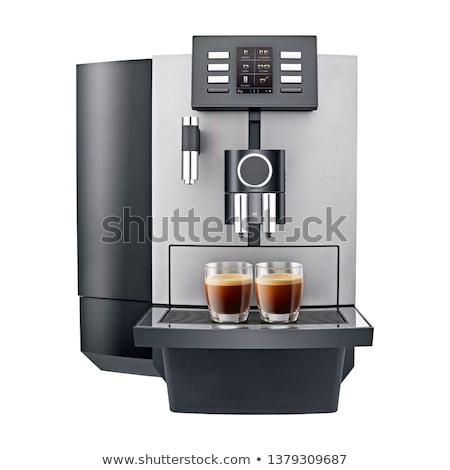 Kávéfőző forró ital főzet felszerlés izolált rajz Stock fotó © robuart