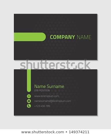 Stockfoto: Abstract · donkere · groene · visitekaartje · ontwerp · business