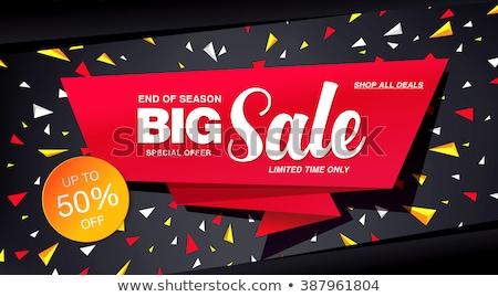 Villanás akciók vásár szalag piros szín Stock fotó © SArts