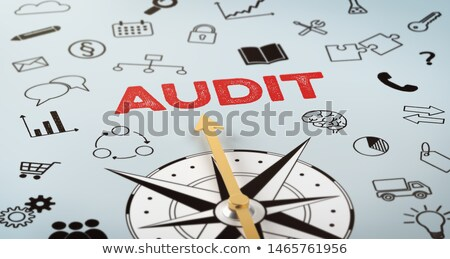 A compass with text and icons - Audit Stock photo © Zerbor