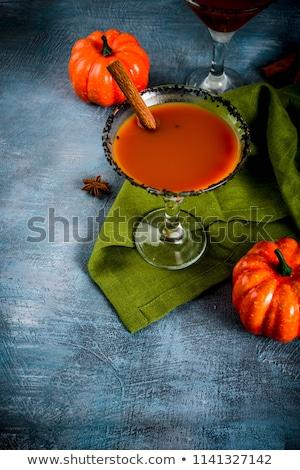 Assustador beber preto martini coquetel festa Foto stock © furmanphoto