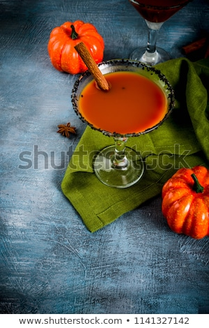 Halloweens spooky drink black martini cocktail Stock photo © furmanphoto