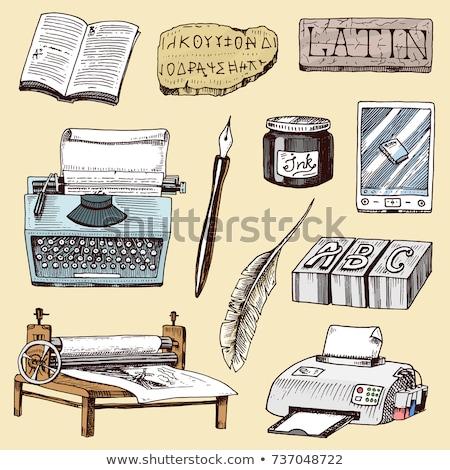 Elektronicznej książki wydrukowane publikacja papieru wektora Zdjęcia stock © robuart