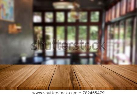 Gekozen focus lege houten tafel wazig abstract Stockfoto © Freedomz