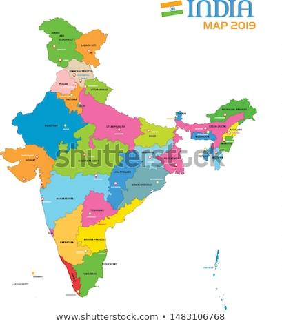 Mappa unione territorio India illustrazione legge Foto d'archivio © vectomart