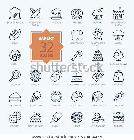 хлебобулочные иконки иллюстрация хлеб цвета знак Сток-фото © olegtoka