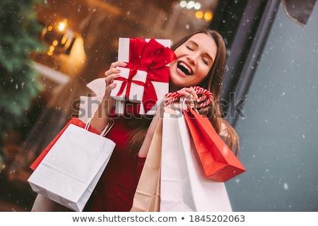 hermosa · qué · Navidad · presente · comprar - foto stock © galitskaya